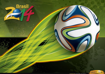 Brasil 2014 football energy trail wallpaper - Free vector #166699