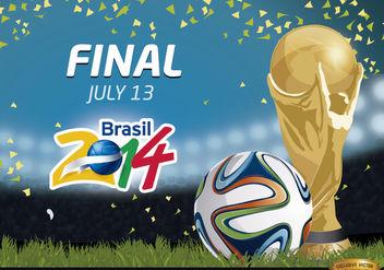 Final Brazil 2014 Promo - Free vector #166769