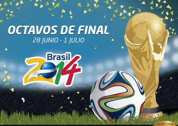 Octavos de final Brasil 2014 Promo - Kostenloses vector #166779