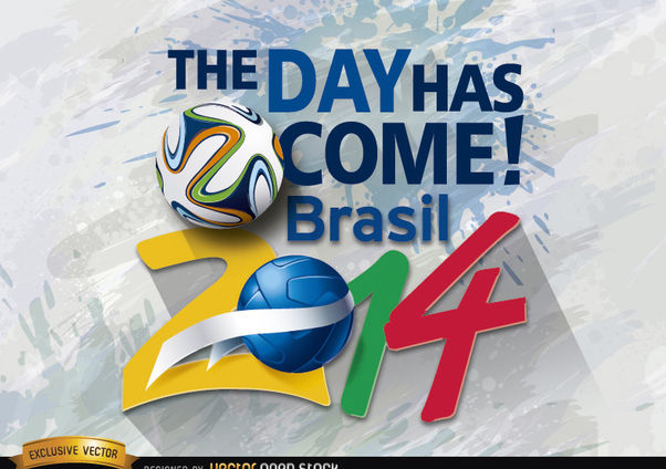Brazil 2014 beginning day promo - vector gratuit(e) #166849