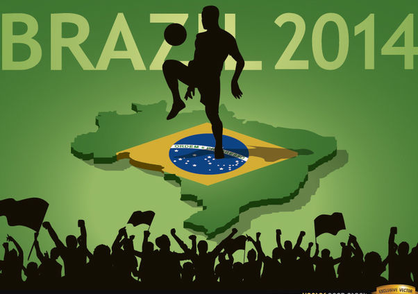 Brazil 2014 country fan crowds - Free vector #166859