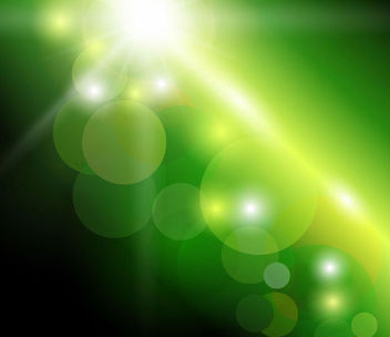 Green Background with Natural Bokeh Sunlight - Kostenloses vector #166939