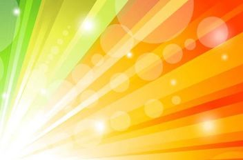 Glorious Colorful Sun Shine Background - vector gratuit #167119