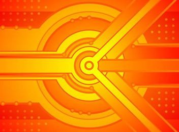 Abstract Orange Tech Background - vector #167189 gratis