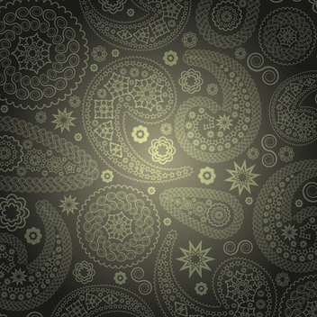 Golden Paisley Ornamental Background - Free vector #167209