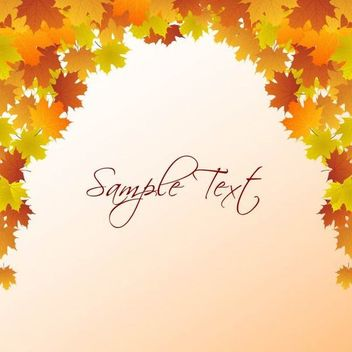Autumn Leaf Frame Template - vector #167219 gratis