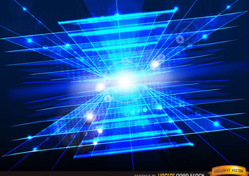 Technologic Abstract Blue background with light flares - Free vector #167269
