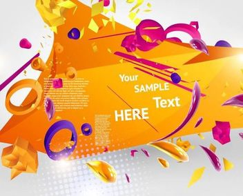 3D Abstract Orangey Template Background - Free vector #167309