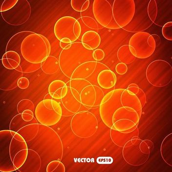 Bright Red Bubble Background - vector #167329 gratis