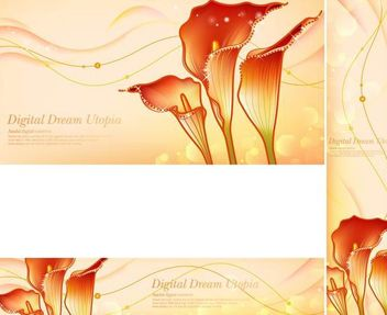 Golden Dream Red Zantedeschia Backgrounds - Free vector #167409