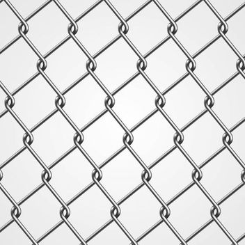 Realistic Metal Chain Fence - бесплатный vector #167439