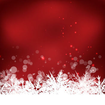 Abstract Winter Snowflake Background - Free vector #167559