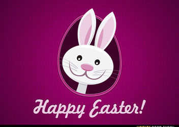 Happy Easter Funny Bunny - vector gratuit #167639