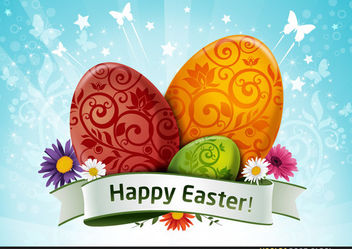Happy Easter Wallpaper - Free vector #167669