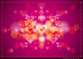 Valentine's Heart Background - vector gratuit #167689