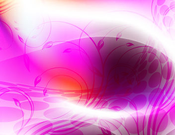 Abstract Curvy Floral Pink Background - Free vector #167719