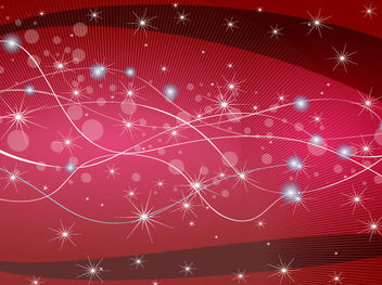 Sparkling Red Background with Wavy Lines - vector gratuit #167789