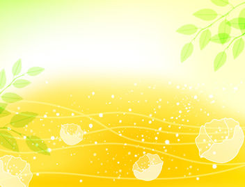 Fresh Natural Background with Blossom - бесплатный vector #167819