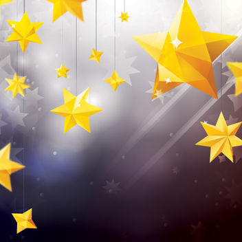 Star Ornaments with Lens Background - vector gratuit #167869