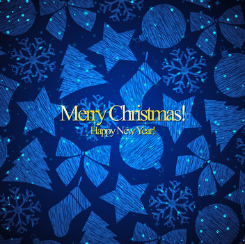 Ornament Pattern Template Christmas Card - Free vector #167879