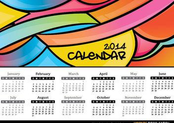 2014 Calendar Pastel Colours - vector gratuit #167919