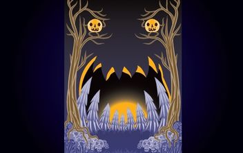 Tree Halloween Party Flyer - vector gratuit #168099