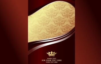 Reddish and Golden Template Greetings - Free vector #168139