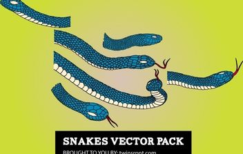 Snake Pack Blue - vector gratuit #168199