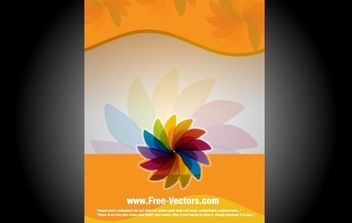 Orangey Flourish Banner Template - vector gratuit(e) #168219