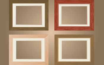 Flat Wooden Window Frame Pack - бесплатный vector #168239
