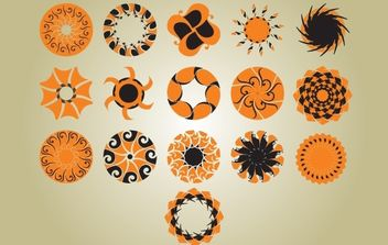 Vintage Circle Pattern Pack - vector gratuit #168259