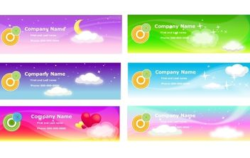 Sky Theme Banner Template - Free vector #168289