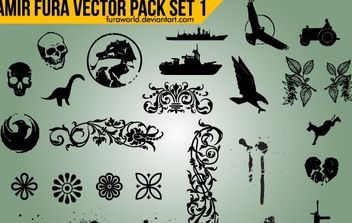 Vector Objects Pack - vector gratuit #168379
