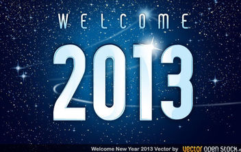 Welcome 2013 new year - vector gratuit #168449
