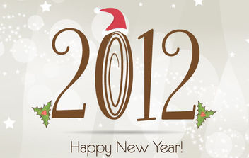 New Year 2012 Template - vector gratuit #168609