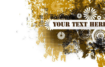 Grunge text banner - Free vector #168829