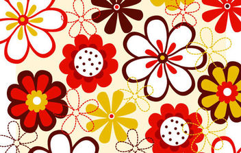 Flower vector background 2 - Free vector #168849