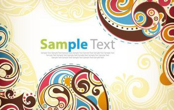 Retro Floral Vector Background - Kostenloses vector #168989