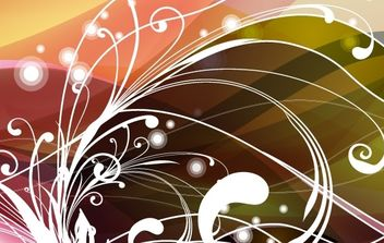 Abstract Floral Background Vector - Free vector #169079