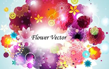 Abstract Flower Vector - Kostenloses vector #169109