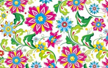 Showy Seamless Floral Vector - Free vector #169139