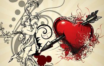 Vintage Heart Backgrounds 4 - vector gratuit #169309
