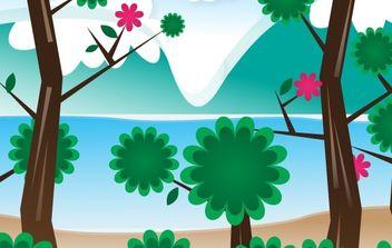 Simple Vector Landscape - Kostenloses vector #169349