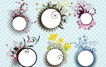 Floral frames - Free vector #169389