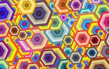 polygon background - Free vector #169399