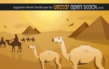 Egyptian desert landscape - vector #169429 gratis