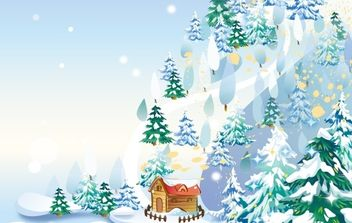Christmas Trees - vector gratuit #169569