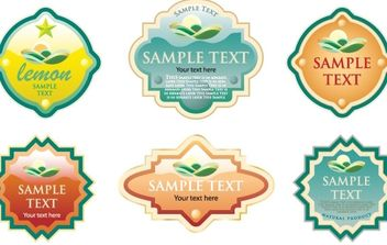 Labels for various products - vector gratuit #169659