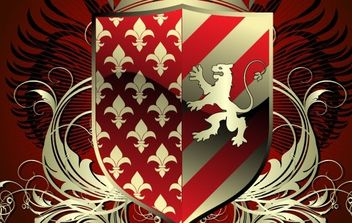 Heraldic shield - Free vector #169679