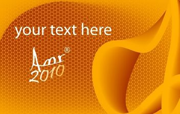 Card in Orange - Free vector #169989
